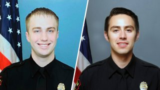 Kenosha Police Officer Rusten Sheskey (left) and Kenosha Police Officer Vincent Arenas (right).
