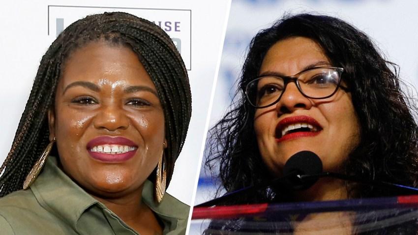 Cori Bush (left) and Rashida Tlaib (right).