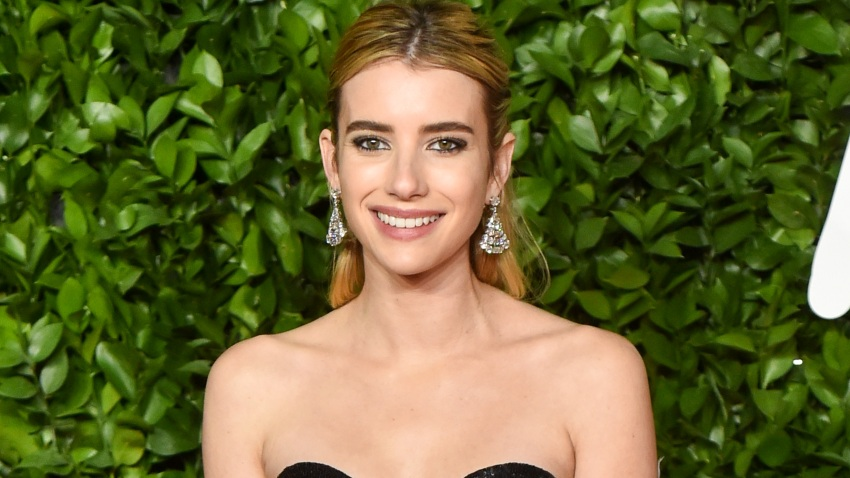 In this Dec. 2, 2019, file photo, Emma Roberts arrives at The Fashion Awards 2019 held at Royal Albert Hall in London, England.