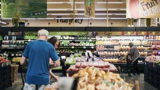 customers shop at Wegmans