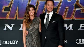 """Katherine Schwarzenegger and Chris Pratt attends the World Premiere of Walt Disney Studios Motion Pictures """"Avengers: Endgame"""" at Los Angeles Convention Center on April 22, 2019 in Los Angeles, California."""