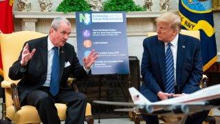Phil Murphy and Donald Trump
