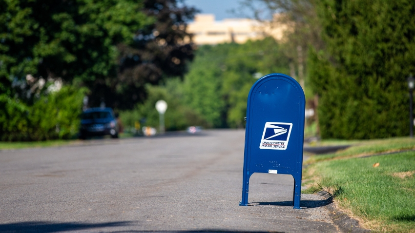 USPS mail collection box