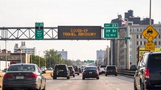 New York COVID travel advisory