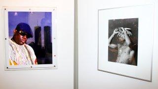 Photographs of Biggie and Tupac