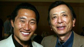 (L-R) Actor Daniel Dae Kim and Actor James Hong