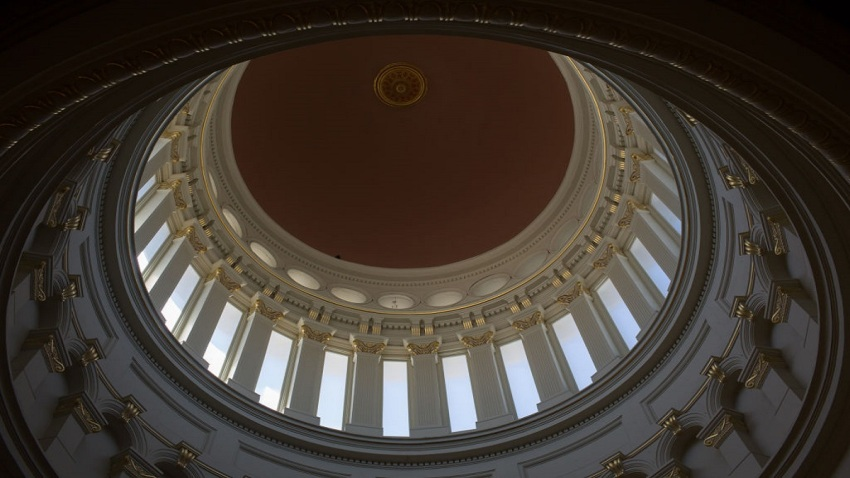 The rotunda of the New Jersey State Capitol building.