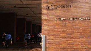 Outside of NY Daily News Newsroom