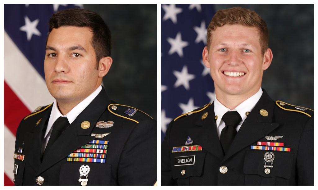 Left: Staff Sgt. Vincent Marketta, Right: Sgt. Tyler Shelton.
