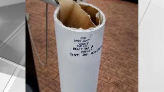 vandalism to 9/11 memorial in upstate new york