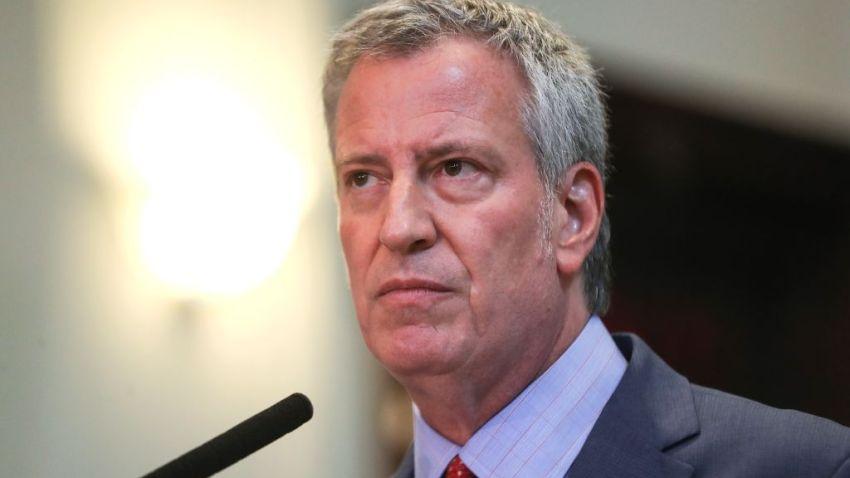 NYC Mayor and presidential candidate Bill De Blasio