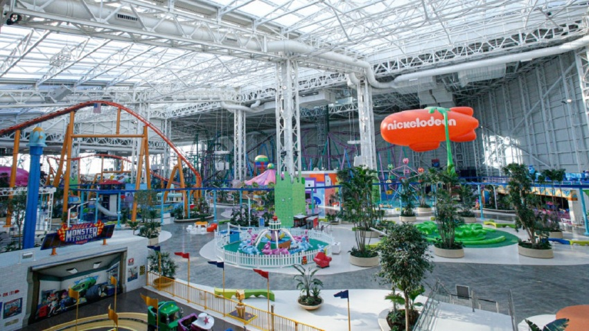 General view of the Nickelodeon Universe park at the American Dream Mall in New Jersey