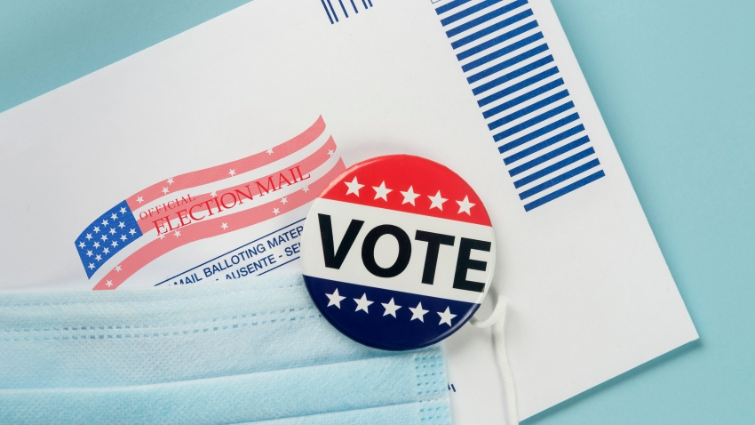 Vote pin with envelope