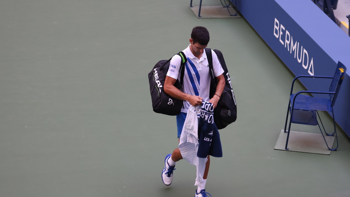 Novak Djokovic Out Of Us Open After Hitting Ball At Line Judge Nbc New York