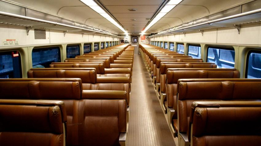Empty NJ transit car