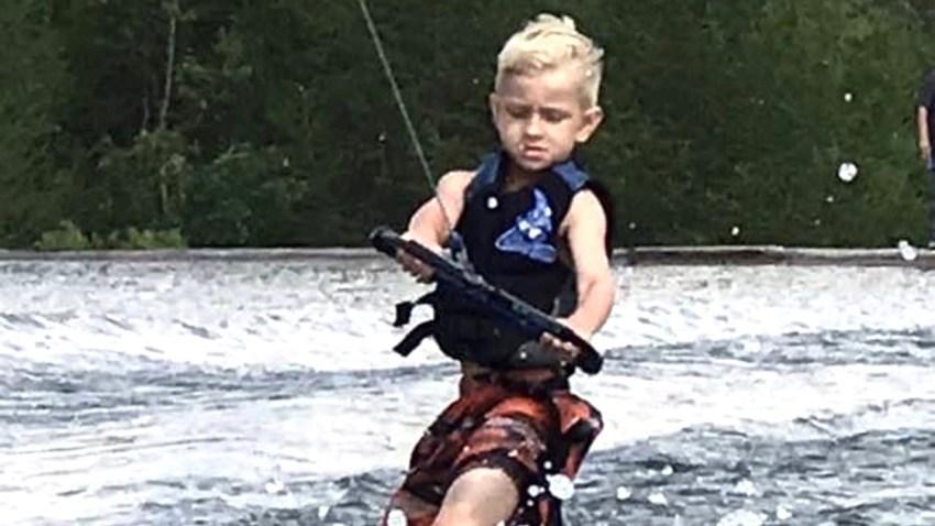 Andrew Brady wakeboarding