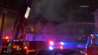 firefighters work to put out damaging fire at Paterson home