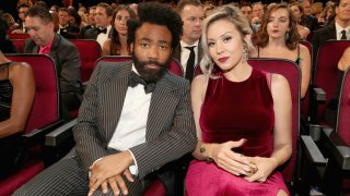 In this Sept. 17, 2018, file photo, actor/writer Donald Glover and Michelle attend the 70th Annual Primetime Emmy Awards held at the Microsoft Theater.