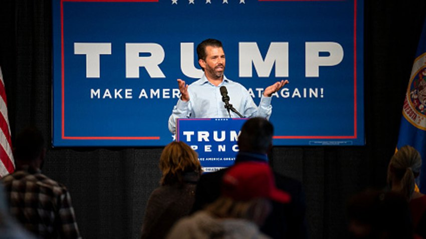 Donald Trump Jr. spoke to a crowd of around 250 people inside the DECC during his campaign event in Duluth on Wednesday, Sept. 9, 2020.