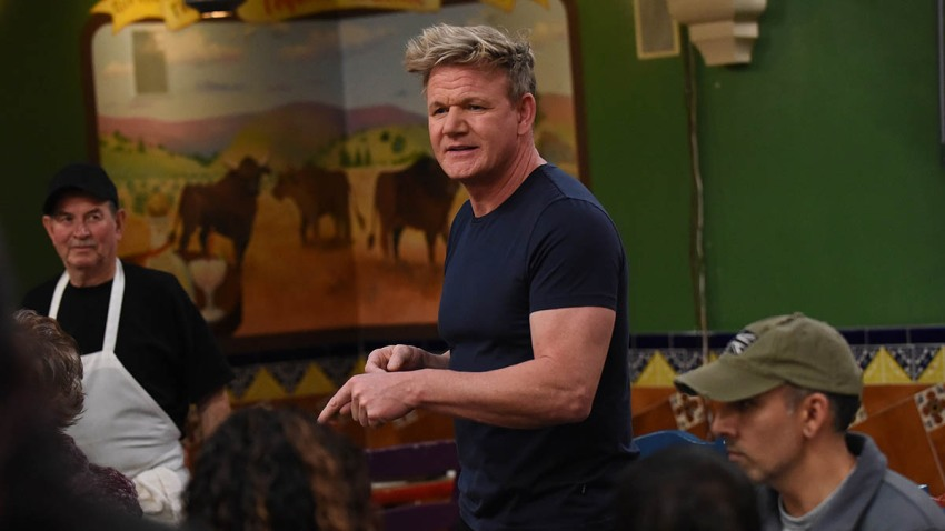 """Chef and TV host Gordon Ramsay during filming of an episode of his reality show """"24 Hours to Hell and Back,"""" Dec. 4, 2018."""