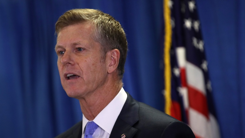 U.S. Attorney David L. Anderson speaks during a press conference to announce charges in a multi-million dollar scheme to receive referrals for Medicare patients on September 05, 2019 in San Francisco, California. The U.S. Attorney's office Northern District of California announced federal complaints against 30 defendants for their part in an elaborate patients for cash kickback scheme. Amity Home Health Care, the largest home health care provider in the San Francisco Bay Area, and Advent Care are at the center of the scheme along with the company's CEO Ridhima Singh.