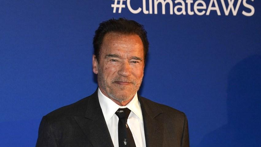 KITZBUEHEL, AUSTRIA - JANUARY 23: Arnold Schwarzenegger during the Climate Austrian World Summit on Hahnenkamm Race Weekend on January 23, 2020 in Kitzbuehel, Austria.