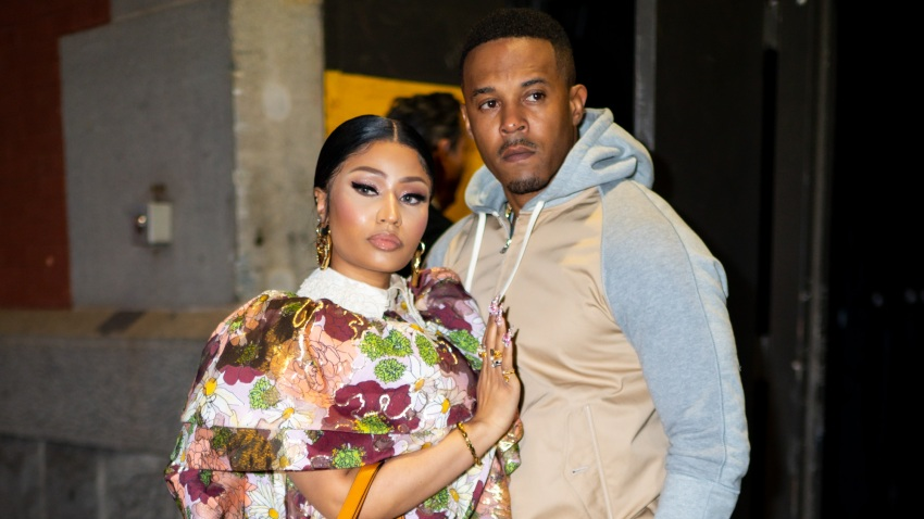 Nicki Minaj (L) and Kenneth Petty