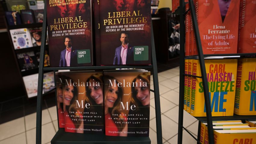 """The book """"Melania and Me: The Rise and Fall of My Friendship with the First Lady"""" by Stephanie Winston Wolkoff is viewed on display at Barnes & Noble bookstore on 5th Avenue in New York on September 1, 2020"""