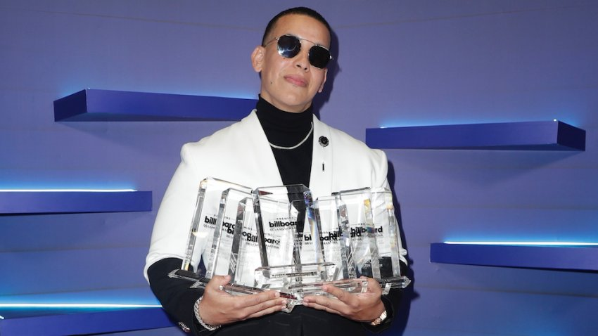 Daddy Yankee backstage at the 2020 Billboard Latin Music Awards at BB&T Center in Sunrise, Florida, on October 21, 2020.