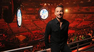 In this July 3, 2015, file photo, Hillsong NYC Pastor Carl Lentz is pictured backstage at the Hillsong Conference at Allphones Arena in Sydney, New South Wales.