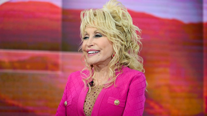 """In this Nov. 20, 2019, file photo, Dolly Parton appears on the set of """"TODAY."""""""