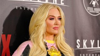 """Erika Jayne attends the premiere of Skyline Entertainment's """"The Toybox"""" at Laemmle's NoHo 7, Sept. 14, 2018, in North Hollywood, California."""