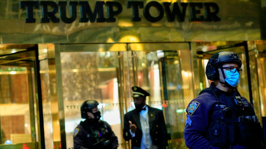 NYPD police outside Trump Tower