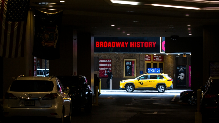 Theaters are seen closed around Times Square on November 17, 2020 in New York