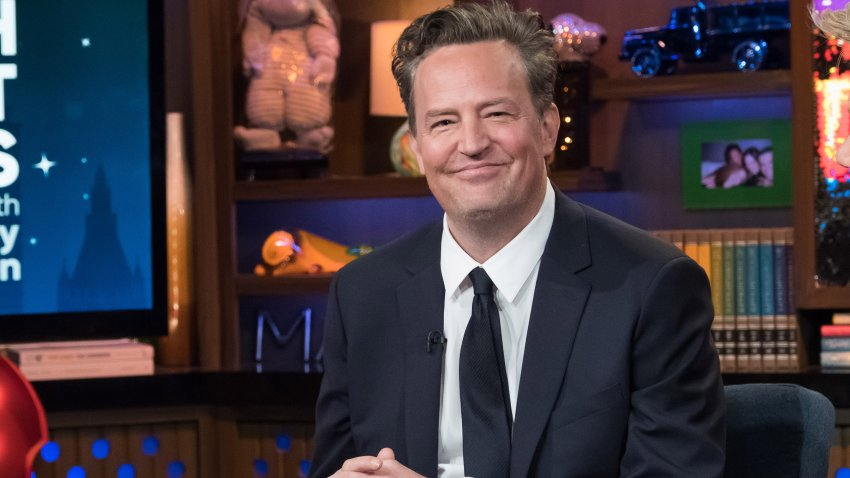 "In this file photo, Matthew Perry appears on ""Watch What Happens Live With Andy Cohen."""