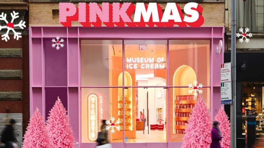 Facade of Museum of Ice Cream during PINKMAS