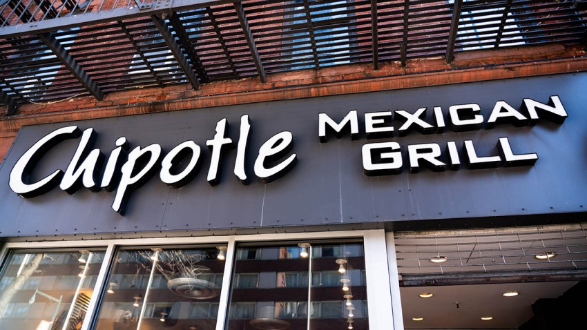 Fast casual restaurant Chipotle Mexican Grill logo seen in Manhattan.