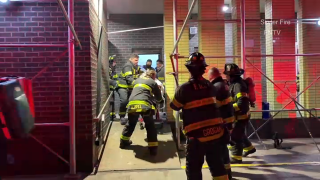 More than 75 firefighters responded to a fire reported shortly after midnight on the 24th floor of a 32-story building in Washington Heights