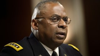 In this March 8, 2016, file photo, Army General Lloyd Austin III, commander of the US Central Command, speaks during a hearing of the Senate Armed Services Committee in Washington, D.C.