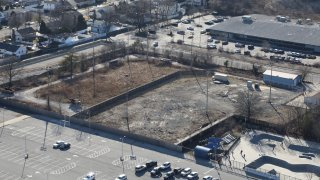 The former ball field at Bethpage Community Park in Bethpage, New York on March 1, 2020. The ball field was built over land that Grumman Aerospace once used to dry toxic sludges and disposed solvent-soaked rags