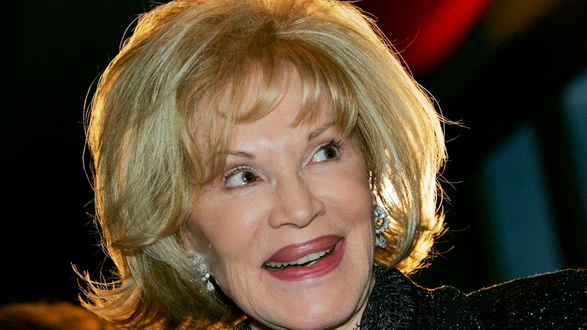 Singer Phyllis McGuire smiles as she appears at French entertainer Line Renaud's Las Vegas Walk of Stars dedication ceremony at the Paris Las Vegas October 24, 2005 in Las Vegas, Nevada. Renaud's star will be placed at the entrance of the hotel-casino.