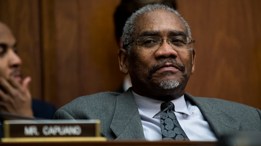 In this Feb. 2, 2017, file photo, Rep. Gregory Meeks, D-N.Y., participates in the House Financial Services Committee meeting to organize for the 115th Congress.