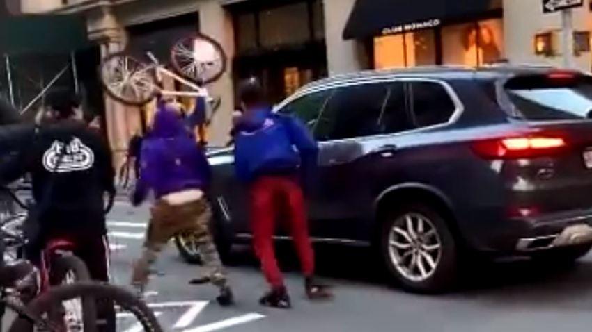 Group damaging vehicle