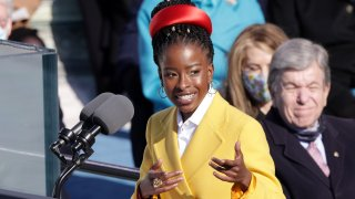 In this Jan. 20, 2021, file photo, Youth Poet Laureate Amanda Gorman speaks at the inauguration of President Joe Biden on the West Front of the U.S. Capitol in Washington, D.C.