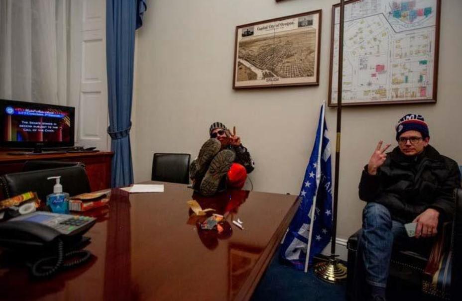 Photo of Justin McAuliffe Allegedly Inside Senate Office FBI