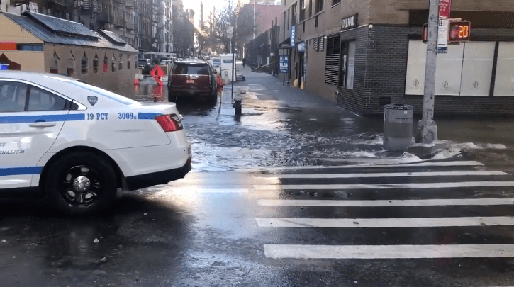 Officials were working Saturday morning to repair a broken water main on the Upper East Side