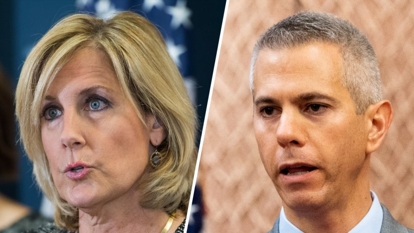 (Left) Former U.S. Rep. Claudia Tenney, a Republican, and (right) incumbent Democrat, U.S. Rep. Anthony Brindisi.