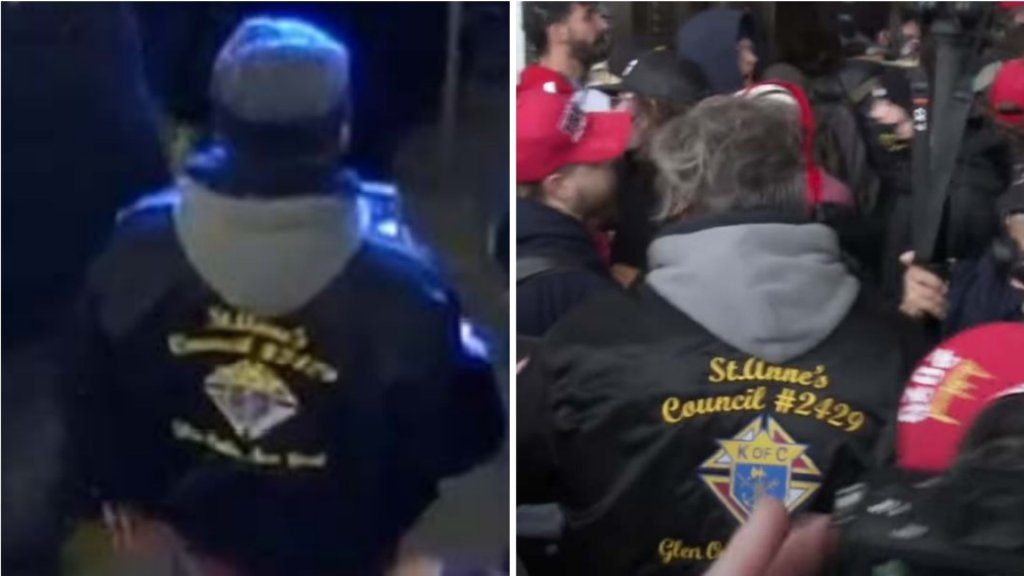 Philip Grillo wearing Knights of Columbus jacket