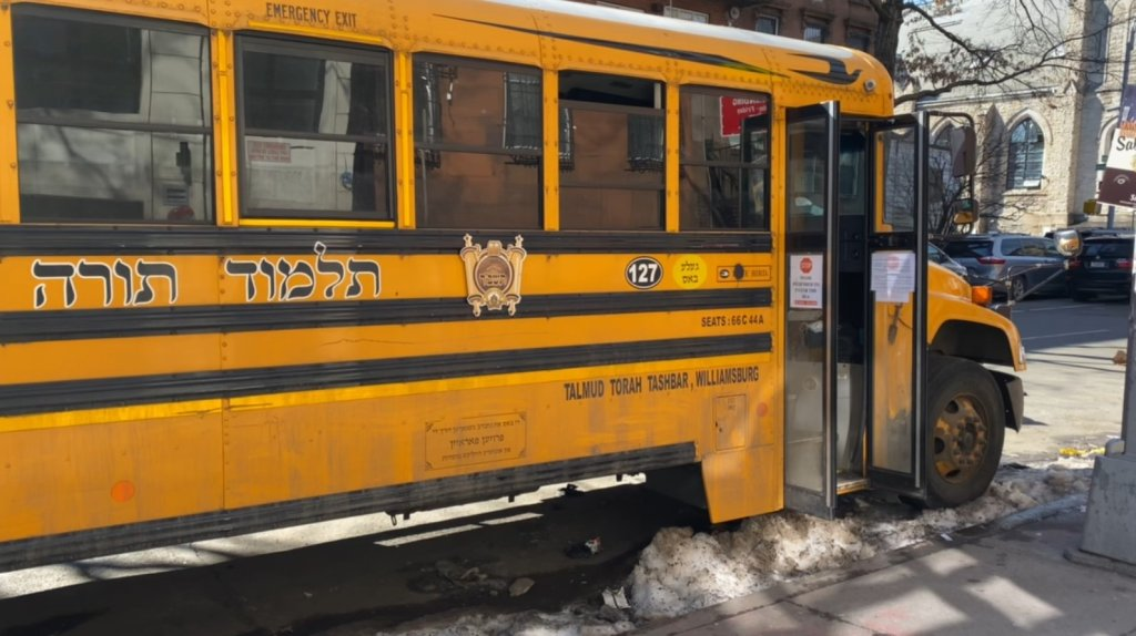 School bus allegedly involved in a hit-and-run in Brooklyn