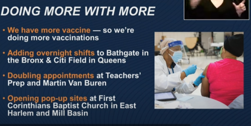nyc opens more vaccine sites